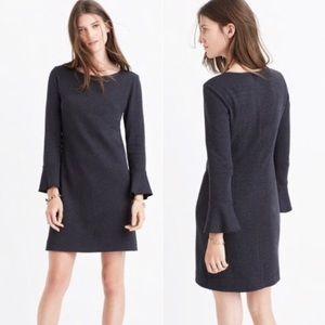 Madewell gray bell sleeve knit dress XXS